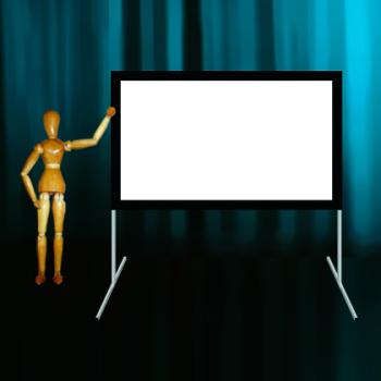 Ecran cadre 16:9 de 238x143cm Stumpfl Monoblox